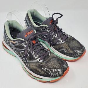 ASICS Nimbus 19 Running Shoes Sneakers 9.5 Gray